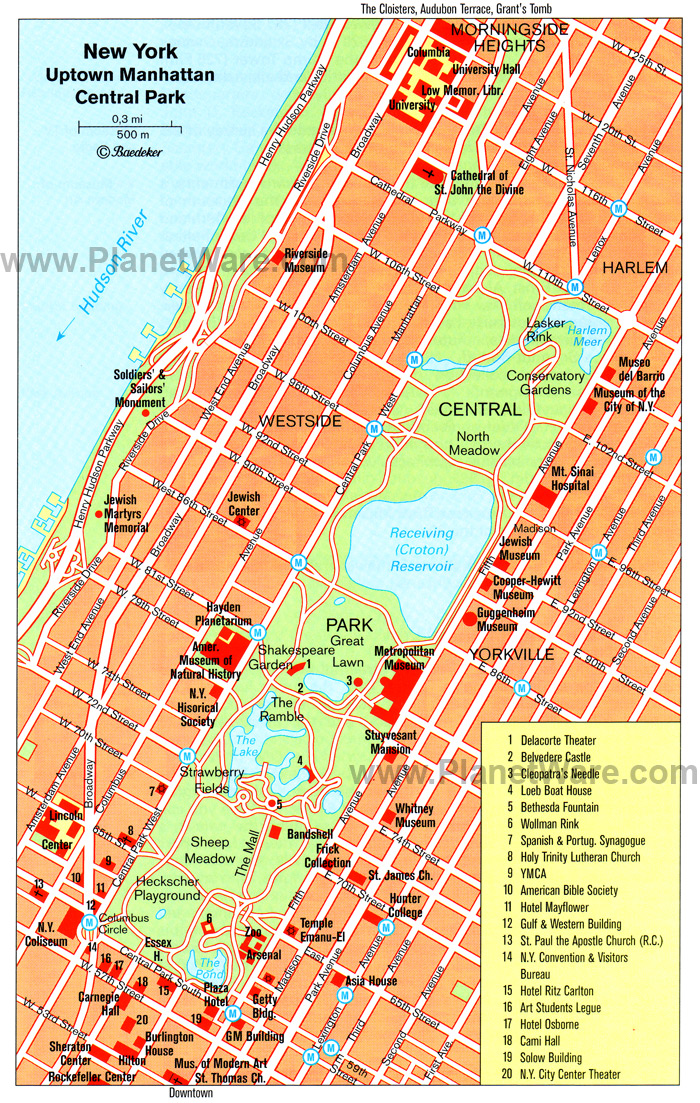 Map Of New York Rockefeller Center.Maps Of Tourist Attraction Places
